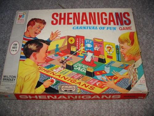1966 MILTON BRADLEY SHENANIGANS GAME