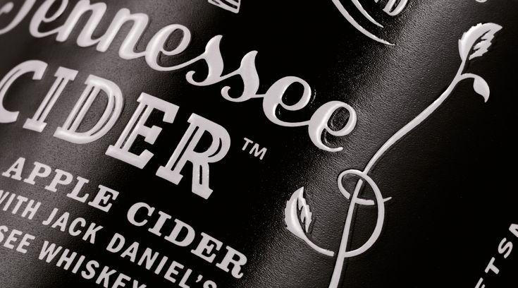 Jack Daniel's / Design / Branding / Tennessee Cider / Cider / Hard Cider / Apple / Whiskey / Old No.7 / Emboss / White Foil /  Black & White