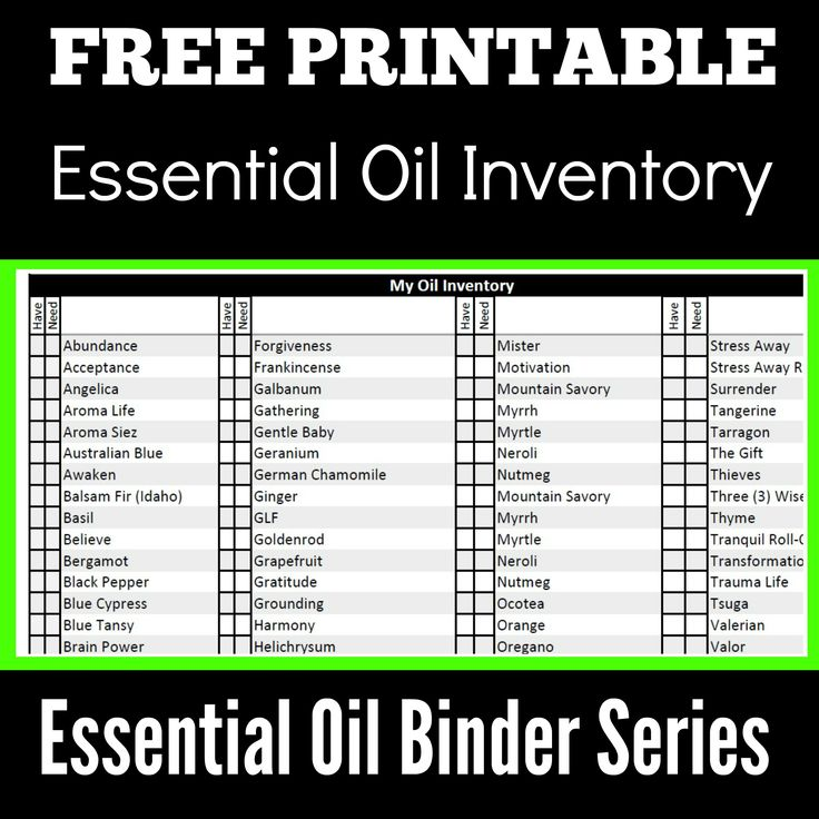 Young Living Essential Oils, Oils Inventory, Binder Inventory, Free Printables, Essential Oil Binders,