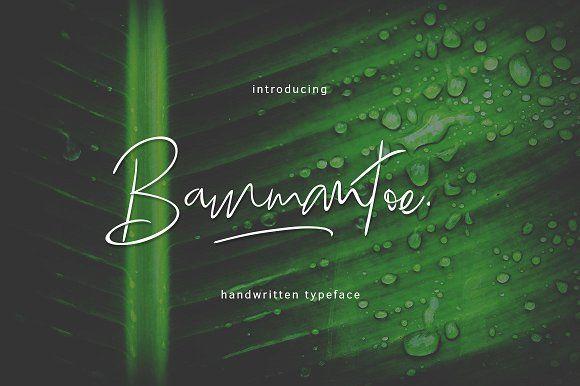 Bammantoe Typeface by thirtypath on @creativemarket
