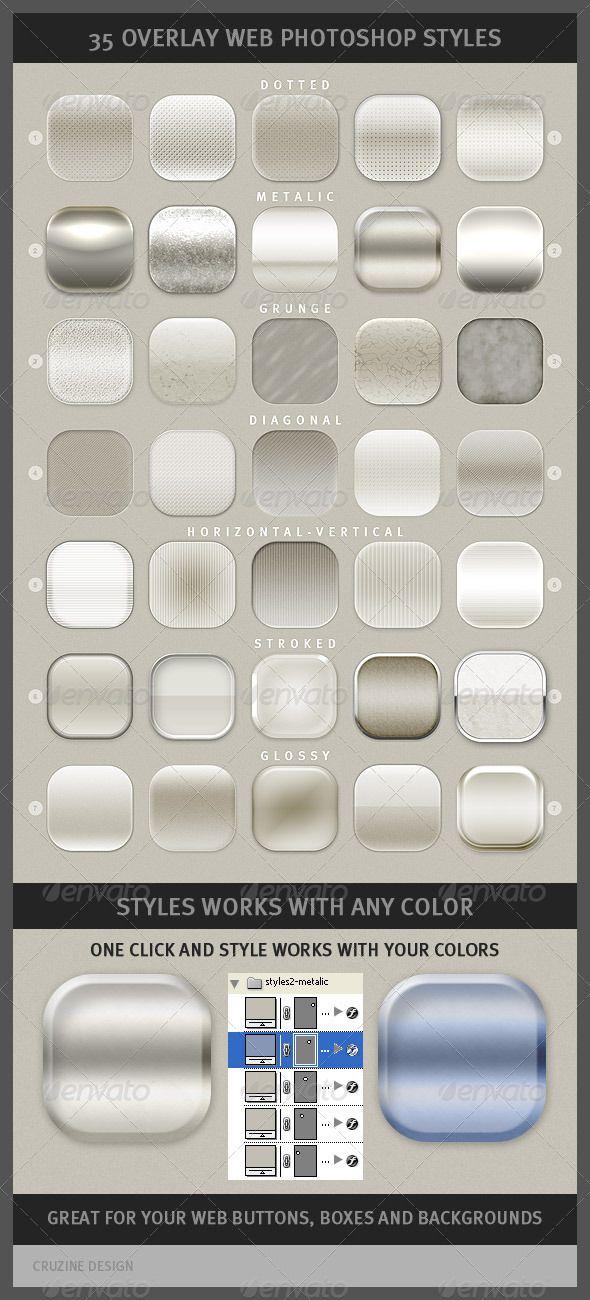 35 Overlay Web Photoshop Styles