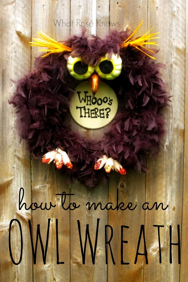 I have to admit, I'm patting myself on the back for this idea. Walking down the Fall crafts and floral aisle at Hobby Lobby inspired me after I started to notice how many different items could be used to create an owl wreath. I searched the n...