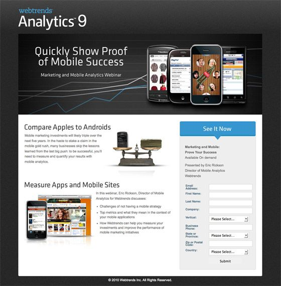 Landing pages that rock
