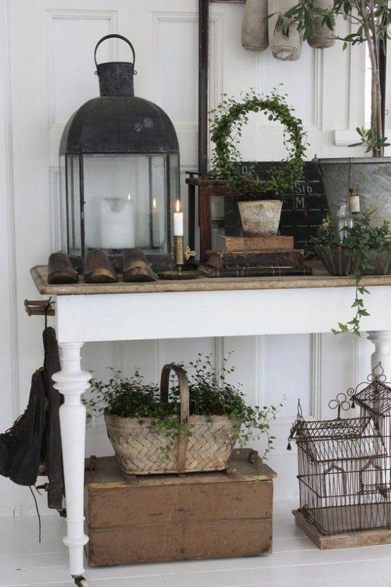 Ideas para decorar el recibidor en estilo shabby chic                                                                                                                                                                                 Más