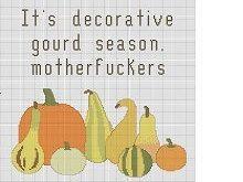 Pattern Its decorative gourd season Motherfuckers