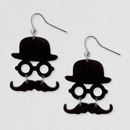 Boucle d'oreille moustache claire's