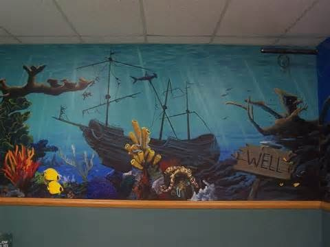 17 best images about home underwater room ideas on for Underwater mural ideas