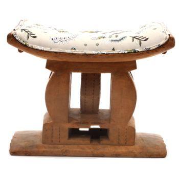 Ardmore Ceramics Batonka Stools: Ashanti Stool in Protea Field