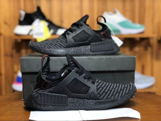 new style c6b7e 581d9 Mens Shoes Adidas Originals NMD R1 Primeknit Boost Triple Black BA7214