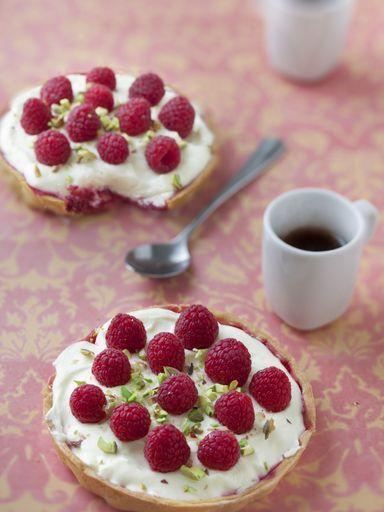 Tartelettes chocolat blanc framboise - Recette de cuisine Marmiton : une recette