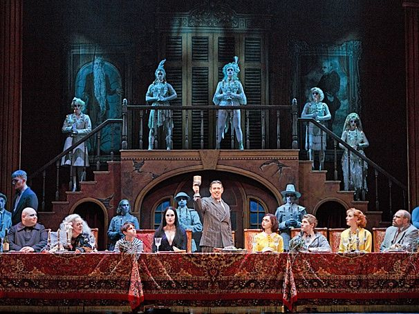 Addams Family Musical Set | ... wrong the addams family is a good show not a great show but a good one