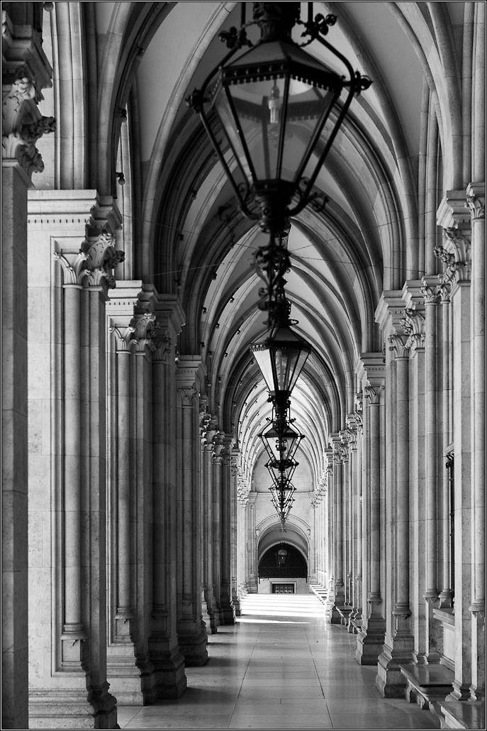 A corridor of arches
