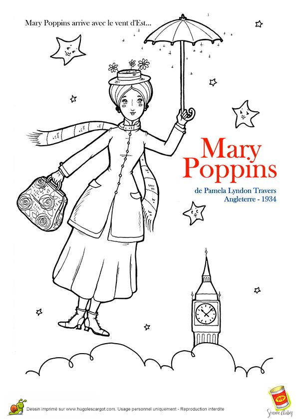 mary poppins coloring pages book - photo#15