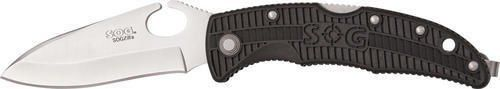 SOG Specialty Knives and Tools SP01-CP Sogzilla Knife with Straight Edge Folding 3.25-Inch Steel Clip Point Blade and GRN Handle, Satin Finish -- Click image to review more details.