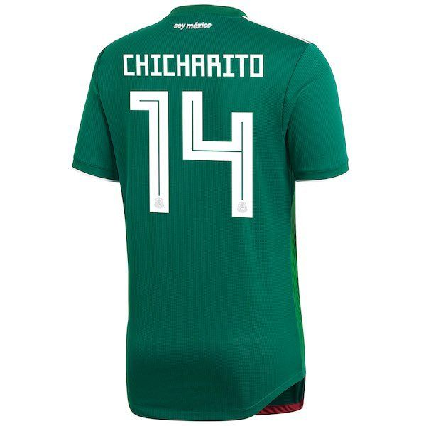 separation shoes c272e 86704 Chicharito #14 Mexico National Team 2018/2019 Home Jersey ...