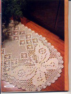 Hooked on crochet: Caminho de borboleta em barbante