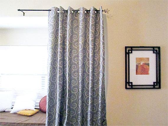 sale pair custom drapes in blue u0026 silver swirl by lushlivings
