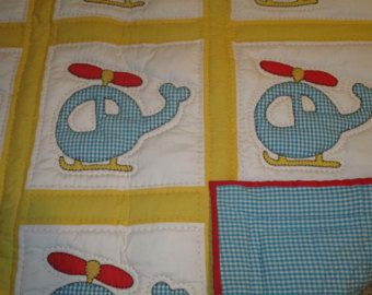 Baby Boy Quilt Vroom voertuig Patchwork Panel rood door CoolSpool