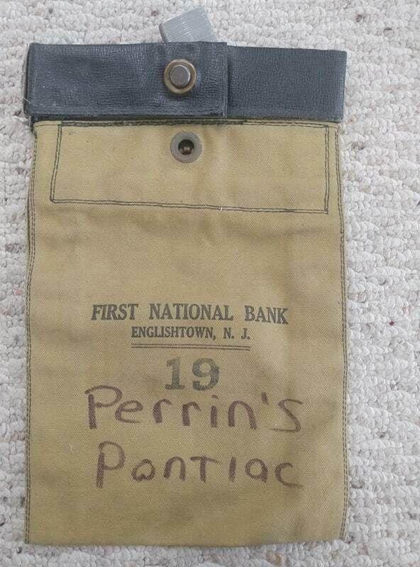 Vintage Bank Money Bag With Lock First National Bank Englishtown N J Rare Money Bag Bank Money Bag Englishtown