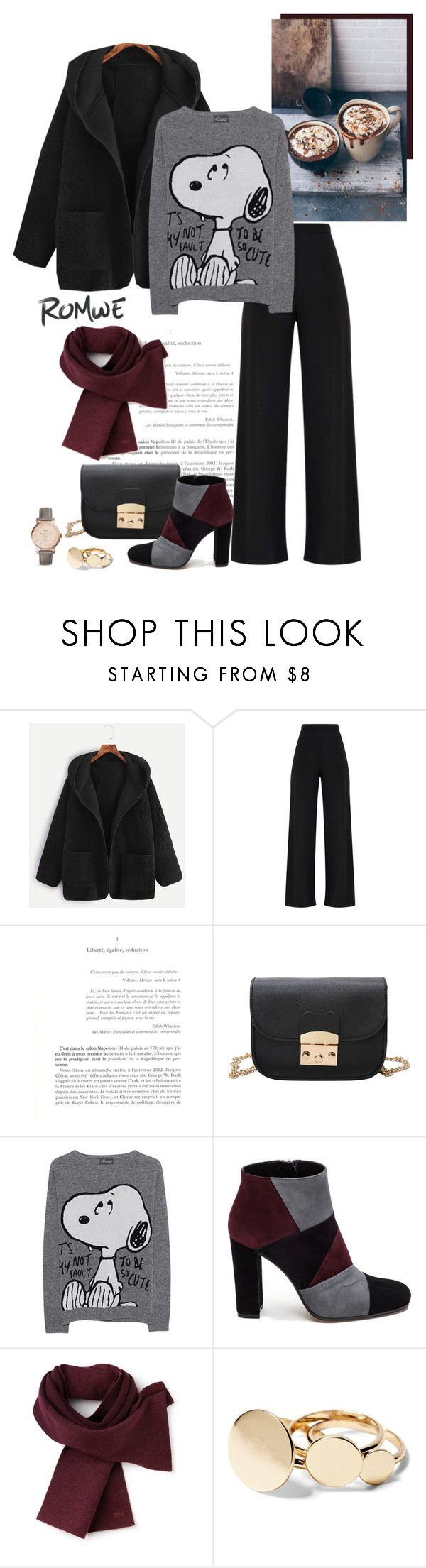 """""""Monday Morning"""" by isidora ❤ liked on Polyvore featuring Princess Goes Hollywood, Roberto Festa, Lacoste, FOSSIL, Boots, romwe, Sweatshirt, pants and coat"""