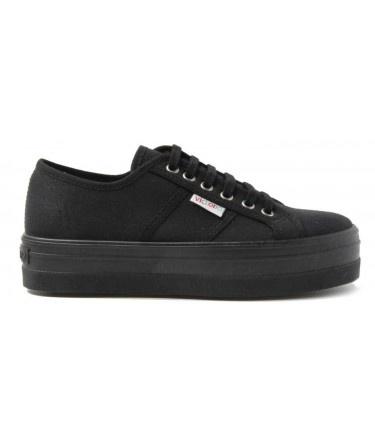 Blucher Lona Plataforma Negra de Zapatillas Victoria - Sabatillelx online