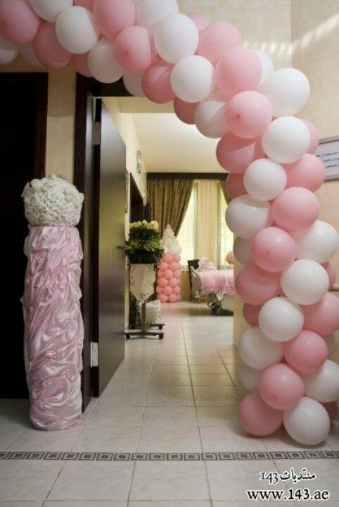 Baby girl hospital room decoration infant babies for Baby full month decoration ideas