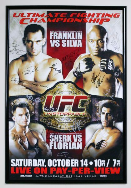 UFC 64 Anderson Silva vs. Rich Franklin Autographed Fight Night Poster