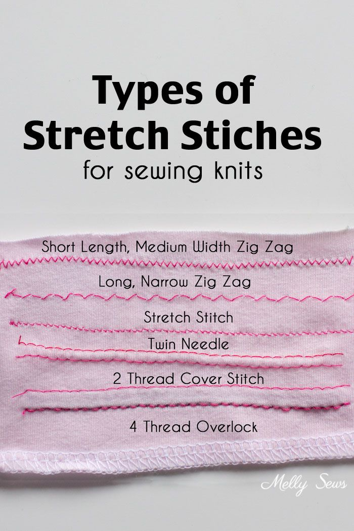Types Of Stretch Stitches Sewing Knits Sewing Pinterest Fascinating Sewing Machine Tips