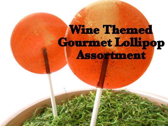 Wine Gourmet Lollipop Assortment (8) - Wine Theme Party - Luxe Lollies - Party Favors - Wedding Favors - Cabernet - Merlot - Chardonnay by LuxeLollipops on Etsy https://www.etsy.com/listing/166169683/wine-gourmet-lollipop-assortment-8-wine