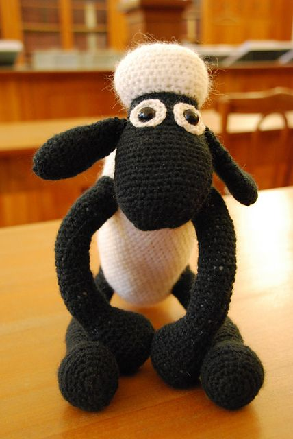 Working on this right now for Sylus's birthday. Already sick of it to be honest. Almost finished with the body so it should be the end of the boring part.  Ravelry: Shaun the Sheep (Crochet) pattern by Linda Smith