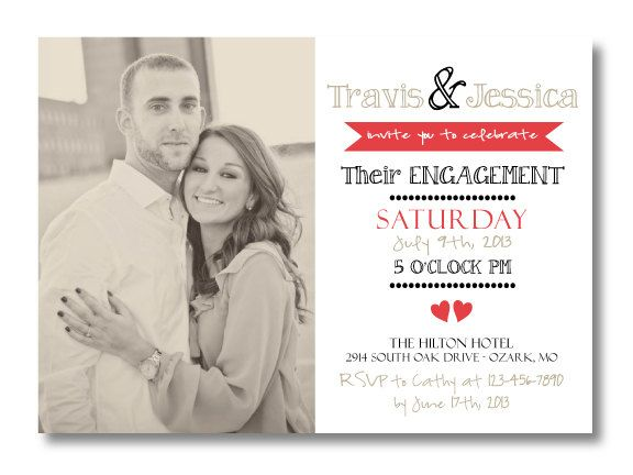8 best Wedding Planning images on Pinterest Bridal gifts, Cloth - how to word engagement party invitations