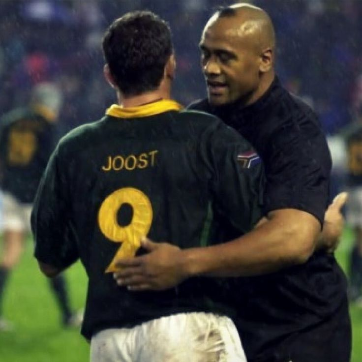 Joost Van Der Westhuizen And Jonah Lomu 1995 World Cup May Both Be Happy Souls In Heaven Springbok Rugby Sporting Legends All Blacks Rugby