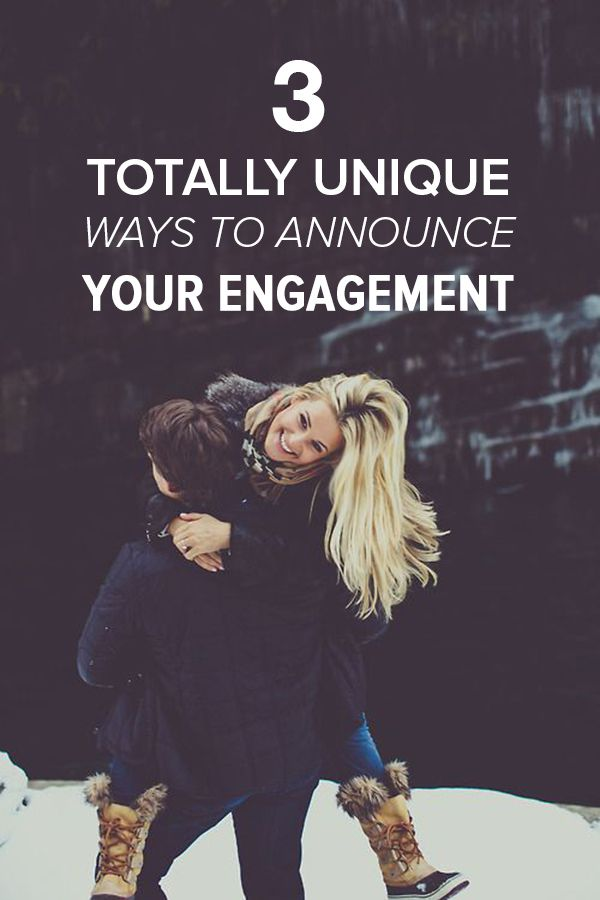 Want to make a statement with your engagement announcement? Use one of these 3 unique ways to share the big news with friends and family. They'll be so surprised!