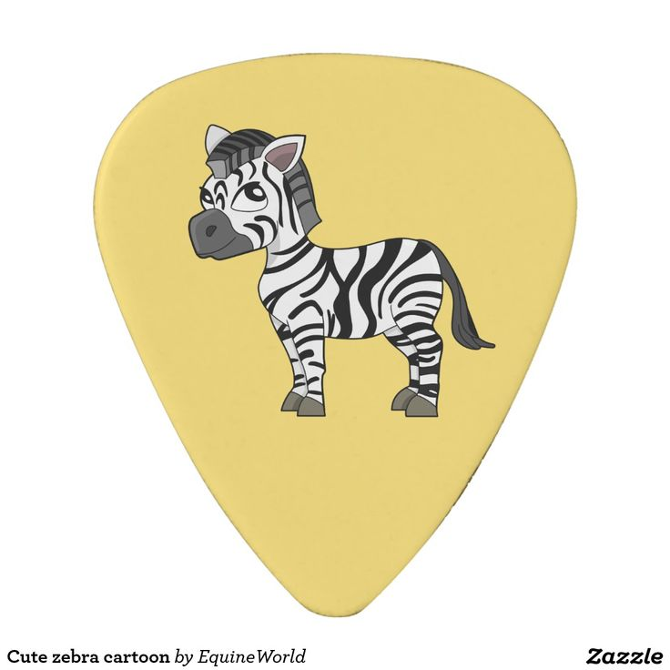 Cute zebra cartoon guitar pick