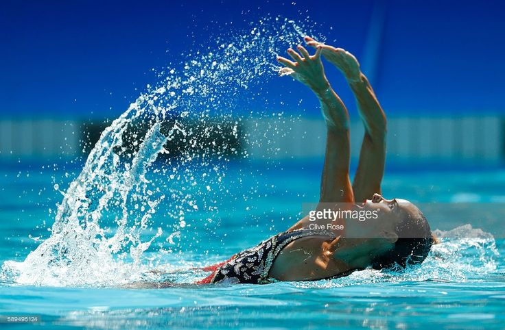 Ona Carbonell Ballestero and Gemma Mengual Civil of Spain compete in the Women's Duets Synchronised Swimming Free Routine Preliminary Round on Day 9 of the Rio 2016 Olympic Games at Maria Lenk Aquatics Centre on August 14, 2016 in Rio de Janeiro, Brazil.