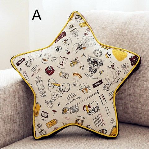 3D star sofa cushions cheap linen decorative pillows for couch
