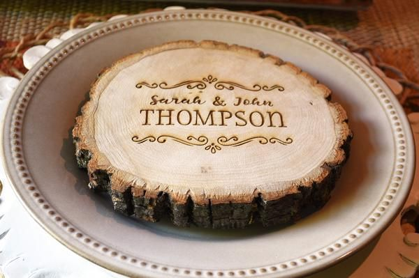 Personalized Wood Tree Slice Table Charger - Charger Plates - Wooden Trivet - Tree Truck Slice Table Decoration