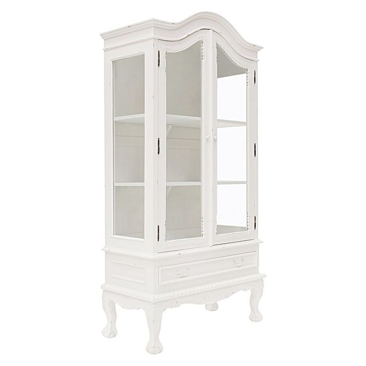 Dutch White Two Doors Showcase by Hudson Furniture   Zanui