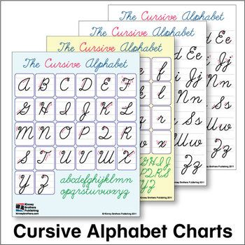 ESL Cursive Alphabet Charts - Paste these into student notebooks or tack to the wall for a reference students will return to again and again!