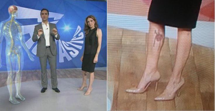 Internautas destacam tatuagem na perna de Poliana Abritta no 'Fantástico'