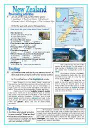 English teaching worksheets: New Zealand