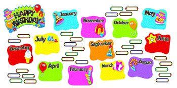 Birthday Festival Mini Bulletin Board Set $6.99