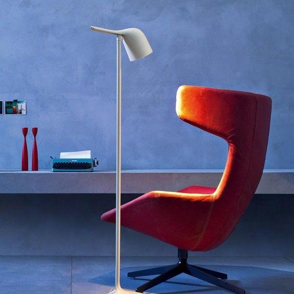 COLIBRI | FOSCARIN Lámpara de pie de diseño acabado color blanco. #iluminación #decoración