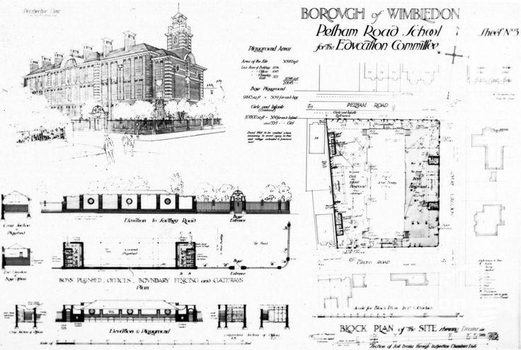 Pelham Road School, Wimbledon: Building plans - Merton Memories Photographic Archive