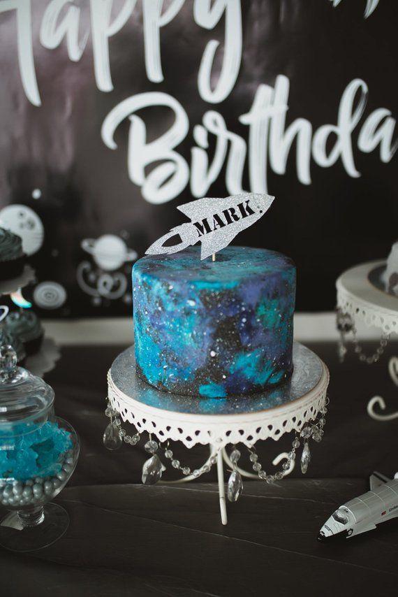 Custom Space Cake Topper