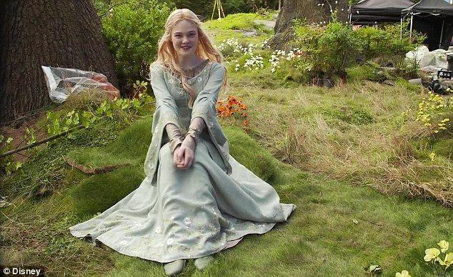 Elle Fanning as Aurora in Maleficent