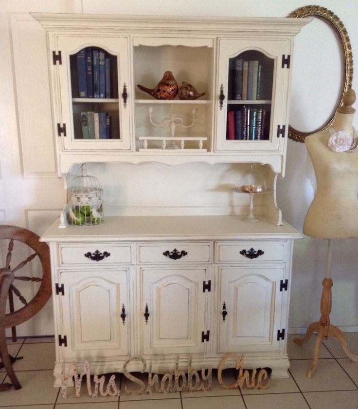 Smoky Pearl Furniture Painting Technique Captiva: Shabby Chic French Country Buffet And Hutch Dresser By Mrs