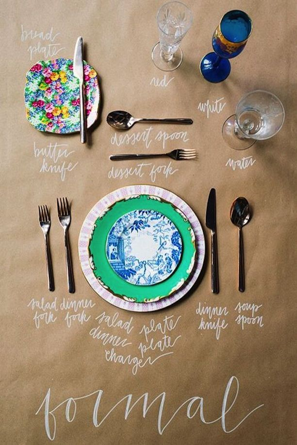 How To Set A Formal Place Setting