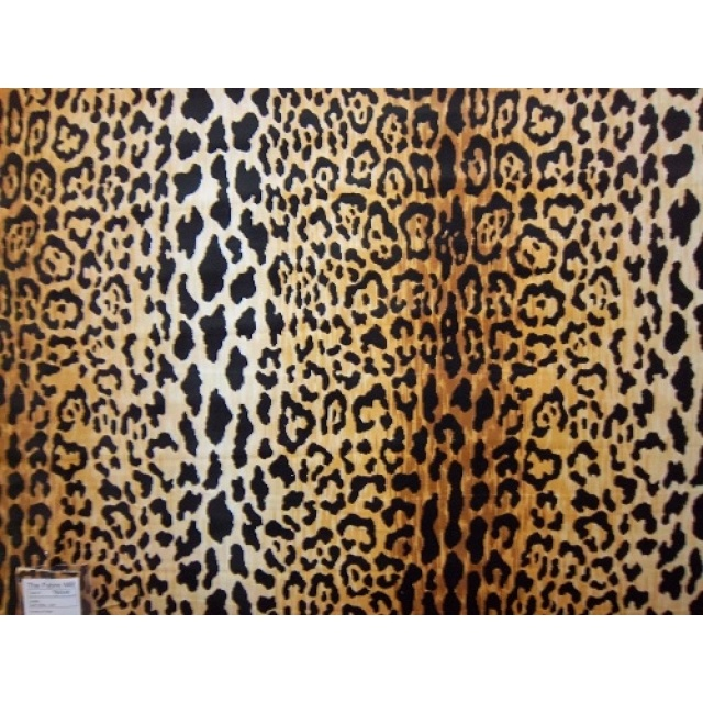 Velvet Leopard Fabric Jamil Natural 1481 Fabric