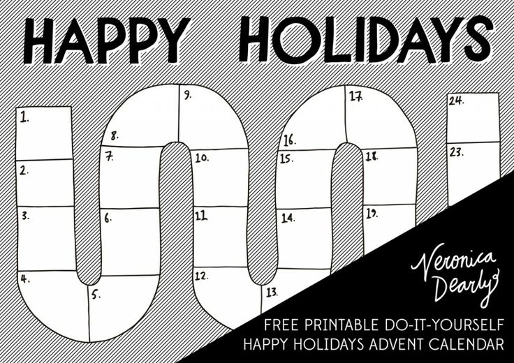 Dearly Xmas Countdown #1: Printable Holiday Happiness — Veronica Dearly Creative Design & Publishing